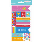 American Crafts - Pebbles - Party with Amy Locurto - Cardstock Stickers - Labels - Rainbow