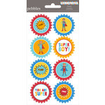 American Crafts - Pebbles - Party with Amy Locurto - Cardstock Stickers - Round - Hero