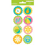 American Crafts - Pebbles - Party with Amy Locurto - Cardstock Stickers - Round - Pool