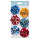 American Crafts - Pebbles - Party with Amy Locurto - Paper Flowers - Hero