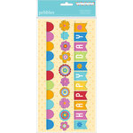 American Crafts - Pebbles - Party with Amy Locurto - Paper Garland - Rainbow