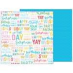 Pebbles - Happy Hooray Collection - 12 x 12 Double Sided Paper - Hooray