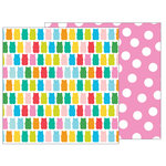 Pebbles - Happy Hooray Collection - 12 x 12 Double Sided Paper - Beary Sweet