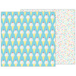 Pebbles - Happy Hooray Collection - 12 x 12 Double Sided Paper - Sprinkles on Top