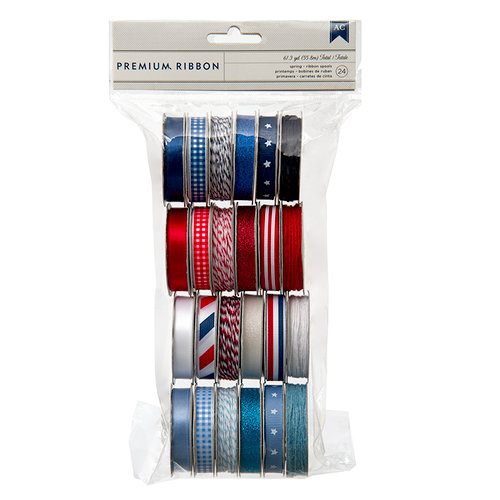 Pebbles - Americana Collection - Ribbon Value Pack - 24 Spools