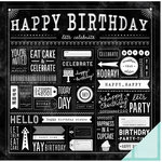 Pebbles - Birthday Wishes Collection - 12 x 12 Double Sided Paper - Party Day