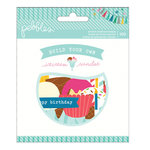 Pebbles - Birthday Wishes Collection - Printed Chipboard Shapes - Build Your Own Ice Cream Sundae
