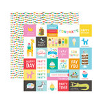 Pebbles - Happy Hooray Collection - 12 x 12 Double Sided Paper - Party Time