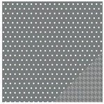 Pebbles - Homemade Collection - 12 x 12 Double Sided Paper - Grey Whimsy