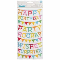 Pebbles - Happy Hooray Collection - Thickers - Phrase - Chipboard