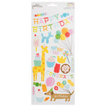 Pebbles - Happy Hooray Collection - Cardstock Stickers
