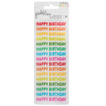 Pebbles - Happy Hooray Collection - Cardstock Stickers - Happy Birthday