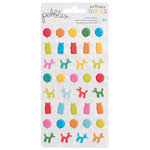 Pebbles - Happy Hooray Collection - Puffy Stickers - Icons