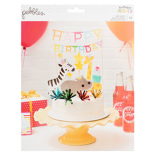 Pebbles - Happy Hooray Collection - Cake Toppers