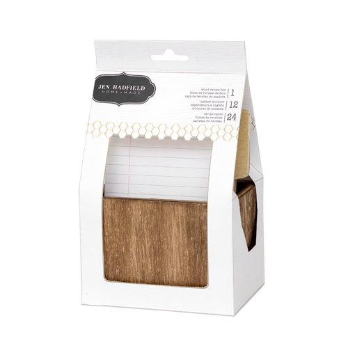 Pebbles - Homemade Collection - Wooden Recipe Box