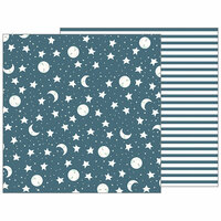 Pebbles - Night Night Collection - 12 x 12 Double Sided Paper - Sweet Dreams