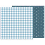 Pebbles - Night Night Collection - 12 x 12 Double Sided Paper - Blue Blankie