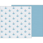 Pebbles - Night Night Collection - 12 x 12 Double Sided Paper - Seaside