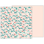 Pebbles - Night Night Collection - 12 x 12 Double Sided Paper - Summer Breeze