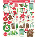 Pebbles - Home For Christmas Collection - Cardstock Stickers