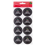 Pebbles - Home For Christmas Collection - Chalkboard Envelope Seals - Merry Christmas