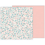 Pebbles - Night Night Collection - 12 x 12 Double Sided Paper - Baby Blossoms