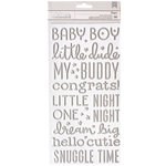 Pebbles - Night Night Collection - Thickers - Foam - Foil - Boy