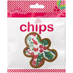 Pebbles - Home For Christmas Collection - Chips - Die Cut Cardstock Shapes