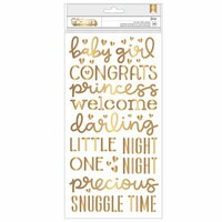 Pebbles - Night Night Collection - Thickers - Foam - Foil - Girl