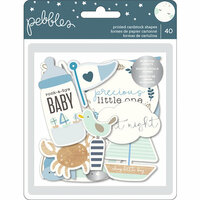 Pebbles - Night Night Collection - Ephemera with Foil Accents - Boy