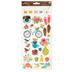 Pebbles - Happy Day Collection - Cardstock Stickers - Icons