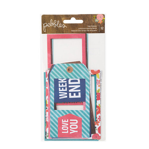 Pebbles - Happy Day Collection - Tag Frames