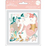 Pebbles - Night Night Collection - Ephemera with Foil Accents - Girl