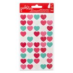 Pebbles - We Go Together Collection - Glitter Heart Stickers