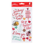 Pebbles - We Go Together Collection - Epoxy Stickers - Phrase