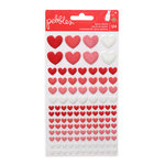 Pebbles - We Go Together Collection - Epoxy Stickers - Hearts