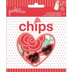 Pebbles - We Go Together Collection - Chips - Die Cut Chipboard and Vellum Shapes