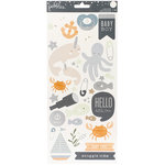 Pebbles - Night Night Collection - Cardstock Stickers with Foil Accents - Boy