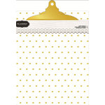 Pebbles - Cottage Living Collection - Acrylic Gold Polka Dot Clip Board