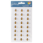 Pebbles - Homegrown Collection - Puffy Stickers - Bees