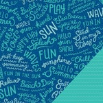 Pebbles - Fun In The Sun Collection - 12 x 12 Double Sided Paper - Splash