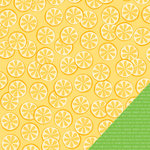 Pebbles - Fun In The Sun Collection - 12 x 12 Double Sided Paper - Lemonade