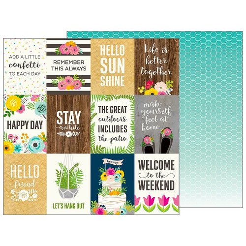 Pebbles - Patio Party Collection - 12 x 12 Double Sided Paper - Patio Life