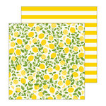 Pebbles - Patio Party Collection - 12 x 12 Double Sided Paper - Citrus Sweet