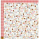 Pebbles - Harvest Collection - 12 x 12 Double Sided Paper - Utensils