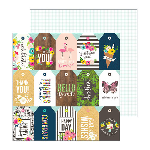 Pebbles - Patio Party Collection - 12 x 12 Double Sided Paper - Just For You