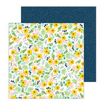 Pebbles - Patio Party Collection - 12 x 12 Double Sided Paper - Backyard Blooms