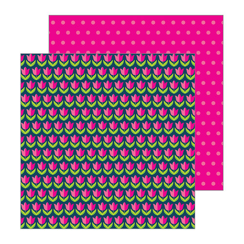 Pebbles - Patio Party Collection - 12 x 12 Double Sided Paper - Tulips
