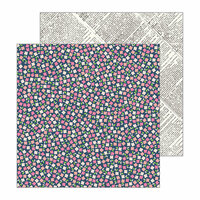 Pebbles - Patio Party Collection - 12 x 12 Double Sided Paper - Scattered Posies