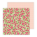Pebbles - Patio Party Collection - 12 x 12 Double Sided Paper - Fresh Berries